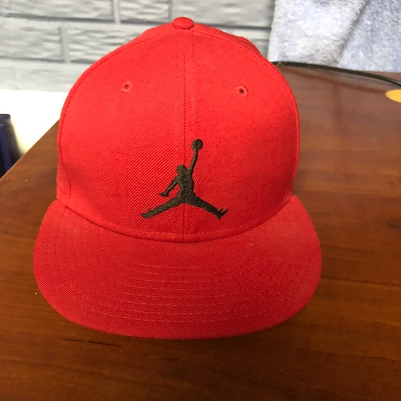 e7216833172f ... order mens jordan red jumpman fitted hat size 7 3 4 e539c 0617f